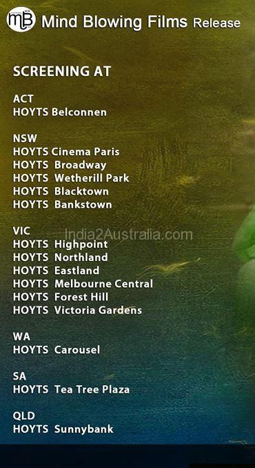 I Movie Screening Location Australia
